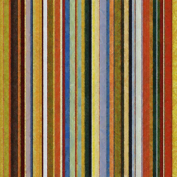 Comfortable Stripes V Print by Michelle Calkins
