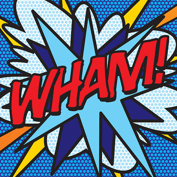Comic Book Wham Print by Image Zone