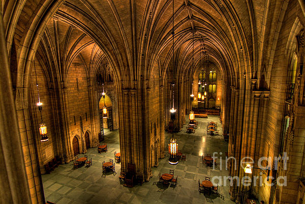 Commons Room Cathedral Of Learning University Of Pittsburgh Print by Amy Cicconi