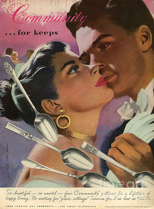Community Cutlery  1952  1950s Usa Print by The Advertising Archives