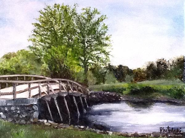 Concord Bridge Print by Cindy Plutnicki