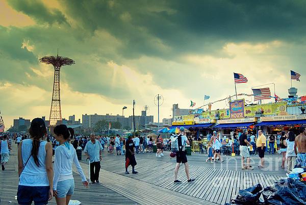 Coney Island Brooklyn New York City Print by Sabine Jacobs