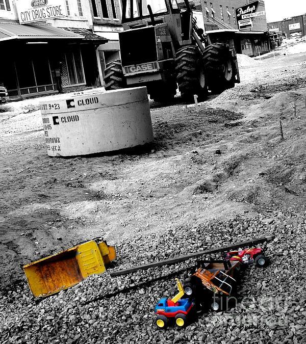 Construction Site Print by   Joe Beasley