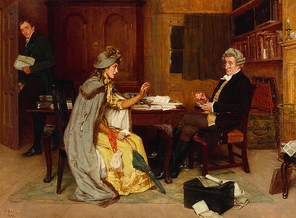 Consulting Her Lawyer Print by Frank  Dadd