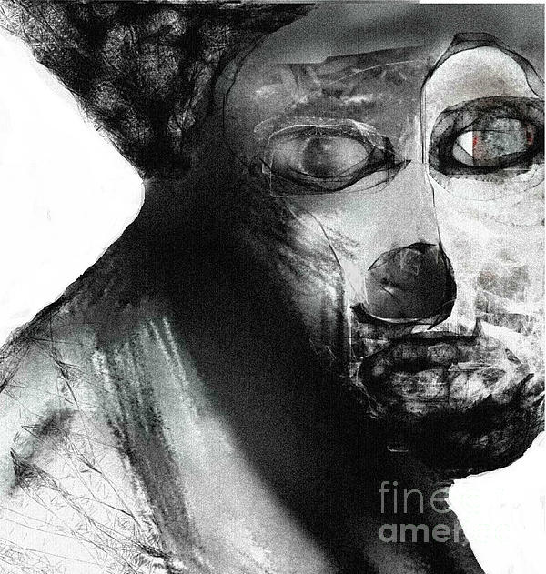 Contemporary Clown Print by Ruth Clotworthy