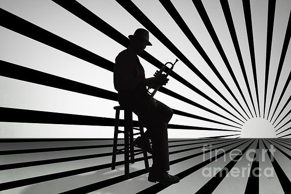 Cool Jazz 2 Print by Bedros Awak