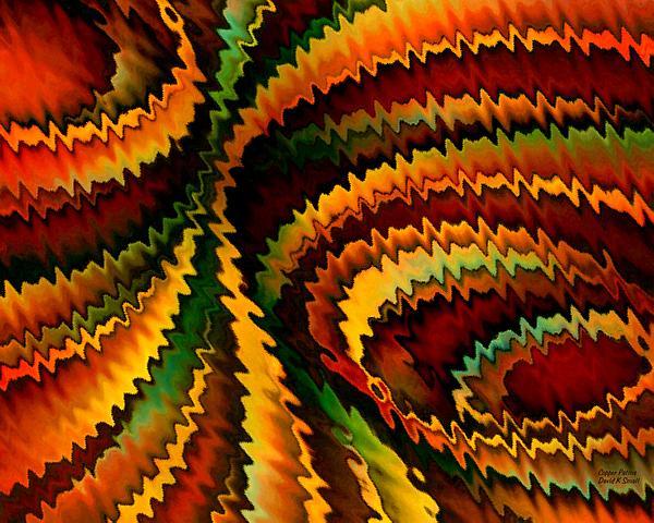 Copper Patina Print by David K Small