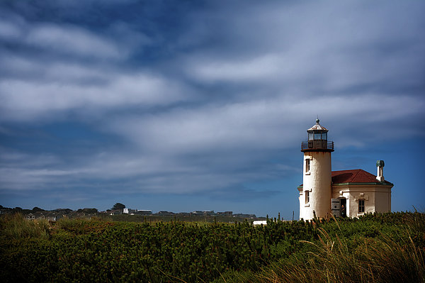 Coquille River Lighthouse Print by Joan Carroll