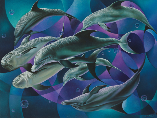 Corazon Del Mar  Print by Ricardo Chavez-Mendez