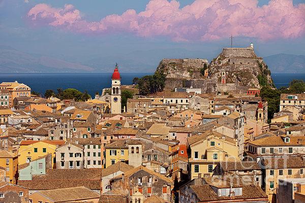 Corfu Town Print by Brian Jannsen