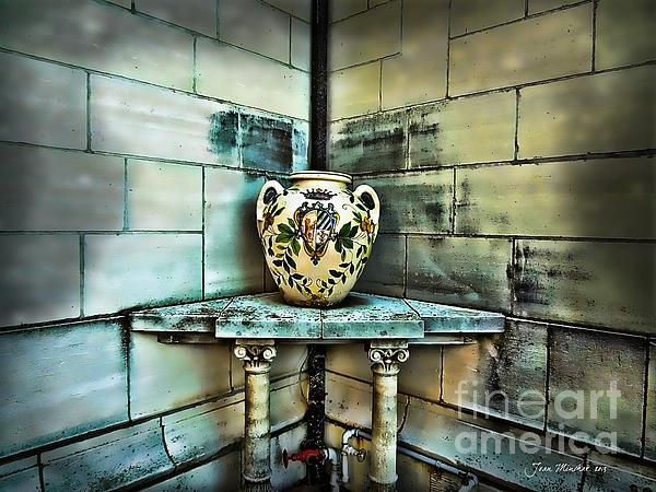 Corner Vase Print by Joan  Minchak