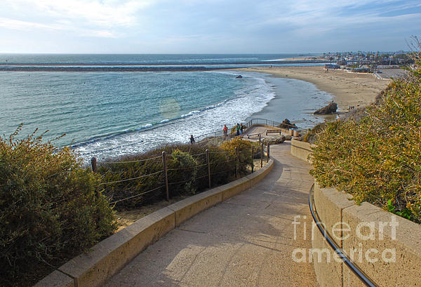 Corona Del Mar Beach View - 01 Print by Gregory Dyer