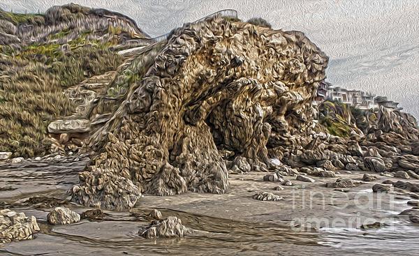Corona Del Mar Sea Cave Print by Gregory Dyer