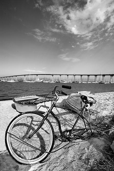 Coronado Bridge Bike Print by Peter Tellone