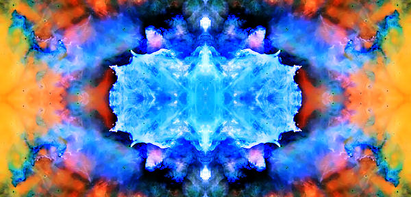Cosmic Kaleidoscope 1 Print by The  Vault - Jennifer Rondinelli Reilly