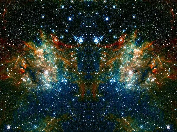 Cosmic Phoenix Print by The  Vault - Jennifer Rondinelli Reilly