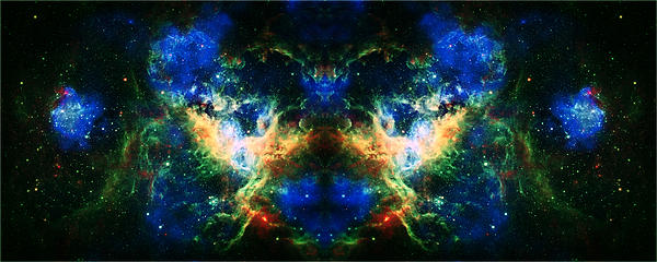 Cosmic Reflection 2 Print by The  Vault - Jennifer Rondinelli Reilly