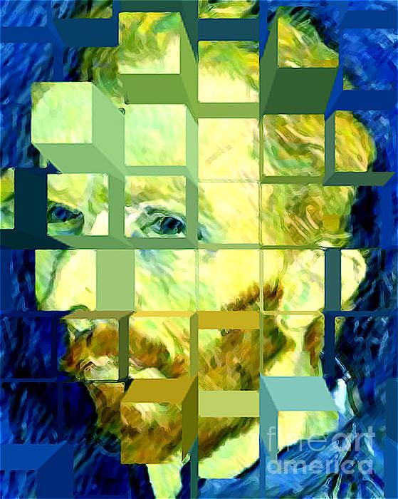 Cosmic Van Gogh Portrait Print by Jerome Stumphauzer