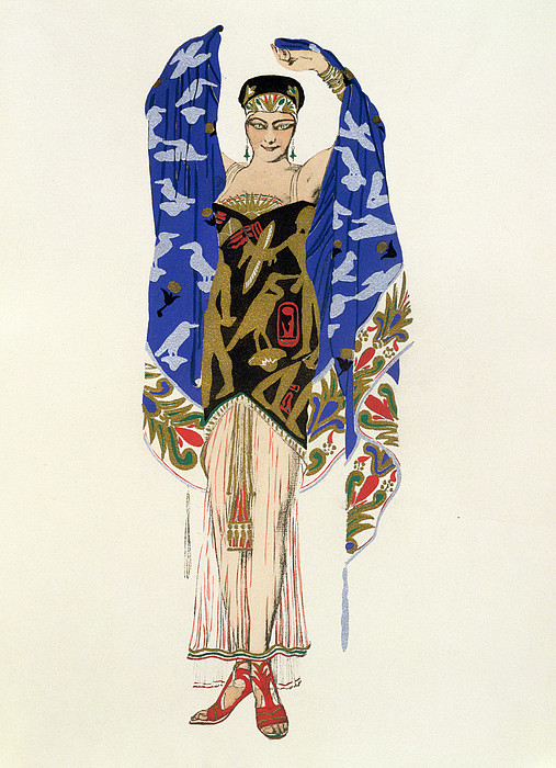 Costume Design For A Dancing Girl Print by Leon Bakst