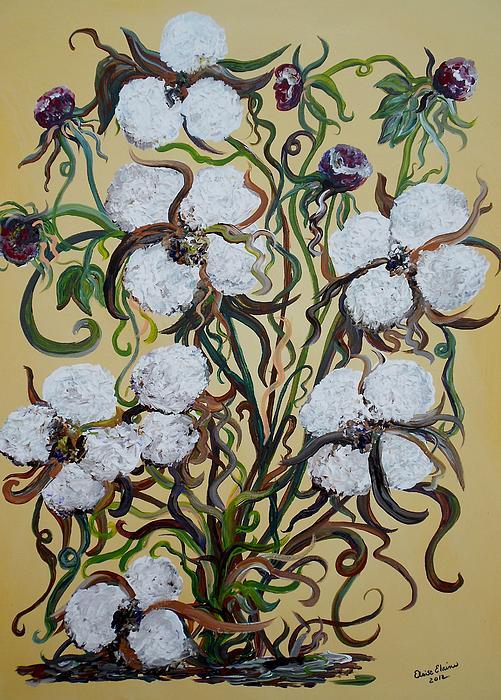 Cotton #2 - Cotton Bolls Print by Eloise Schneider