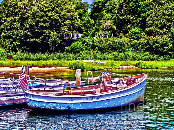 Cotuit Launch Print by Annie Zeno