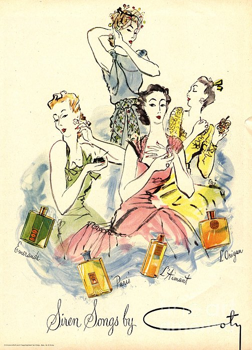 Coty 1940s Uk Womens Print by The Advertising Archives