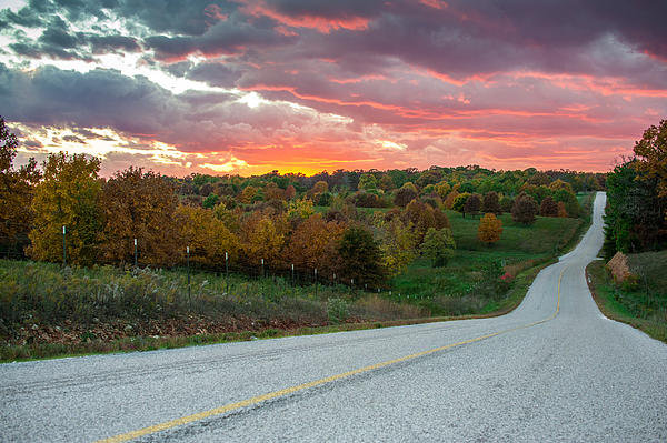 Country Back Roads Print by Gregory Ballos