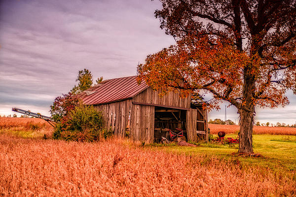 Country Barn Print by Mary Timman