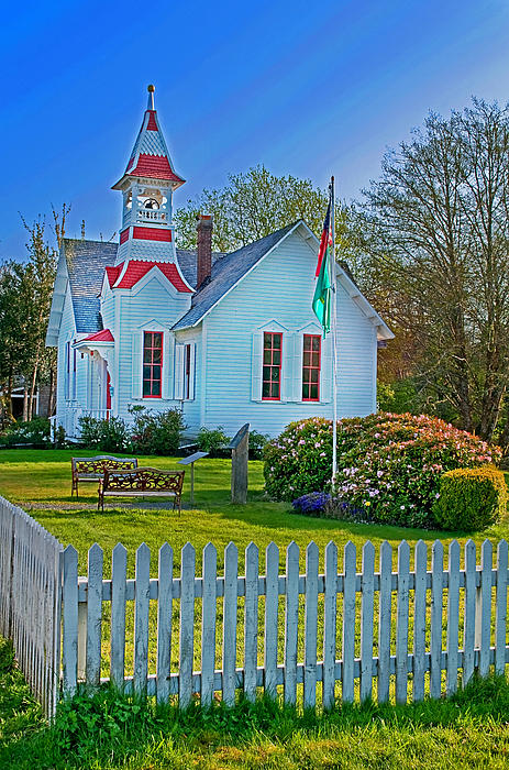 Country Church In Oysterville Wa Print by Valerie Garner