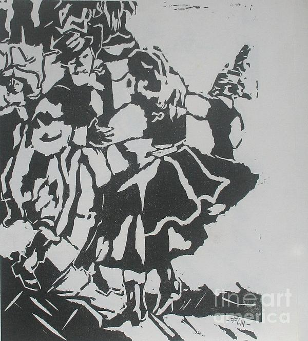 Country Dance Print by PainterArtist FIN