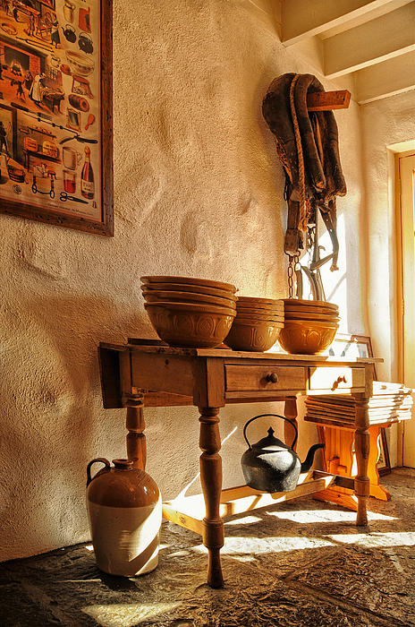 Irish Country Kitchen Print by Barbara Budzinski