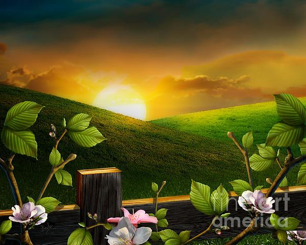 Countryside Sunset Print by Bedros Awak