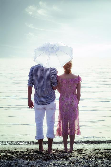 Couple On The Beach Print by Joana Kruse