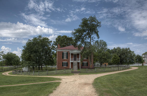 Courthouse At Appomattox Court House Print by Stephen Gray