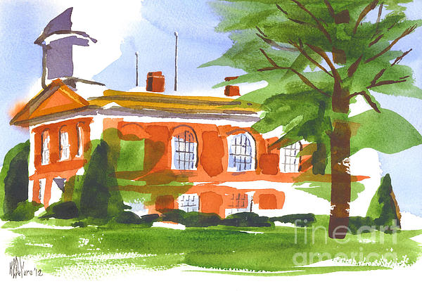 Courthouse On A Summers Evening Print by Kip DeVore