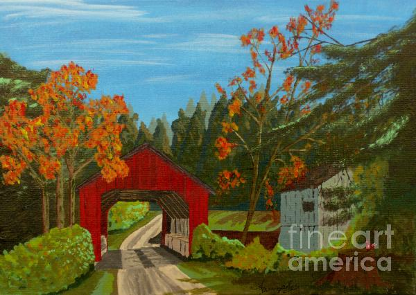 Covered Bridge Print by Anthony Dunphy