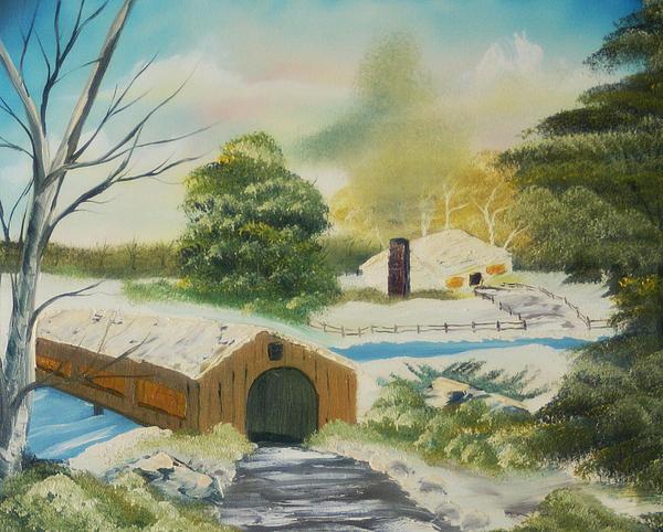 Covered Bridge Print by Edward C Van Wicklen Sr