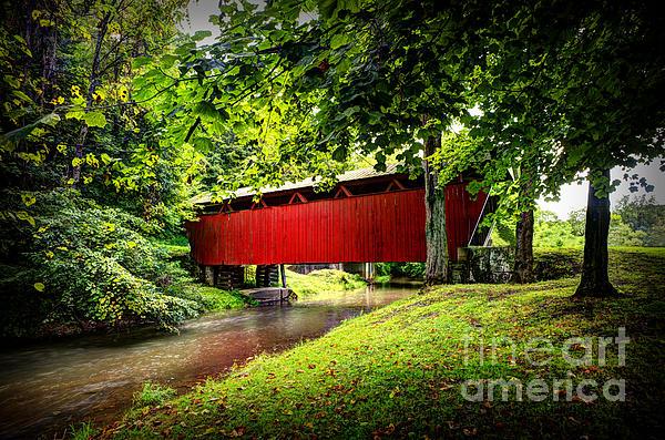 Covered Bridge In Pa Print by Dan Friend