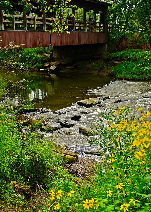 Covered Bridge Print by Frozen in Time Fine Art Photography