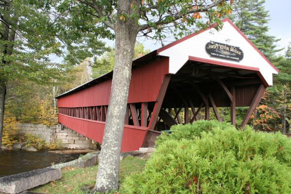 Christiane Schulze Art And Photography - Covered Bridge  Swift River