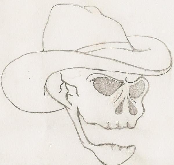 Cowboy Skull Print by Scott Williams