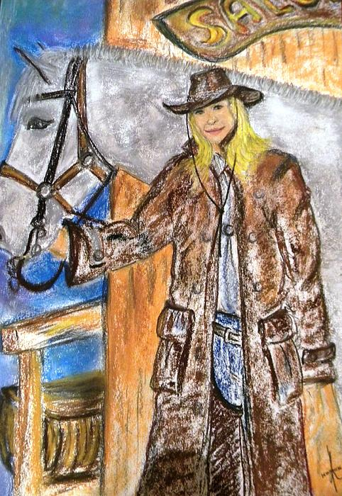Cowgirl Print by Igor Kotnik