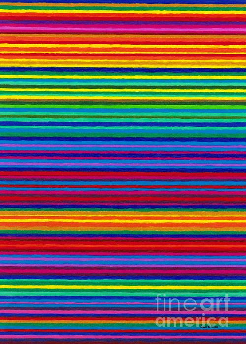 Cp038 Tapestry Stripes Print by David K Small