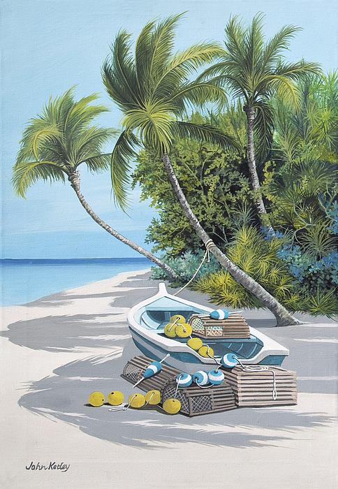 Crab Boats 1 Print by John Ketley