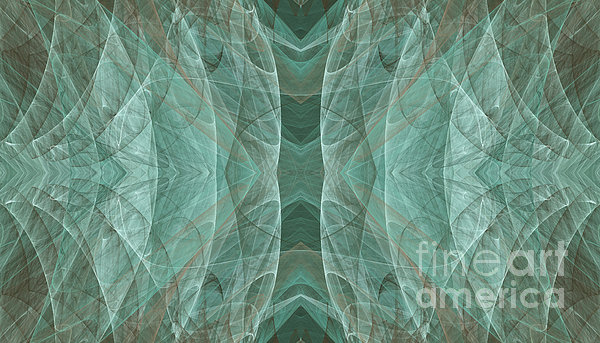 Crashing Waves Of Green 3 - Abstract - Fractal Art Print by Andee Design