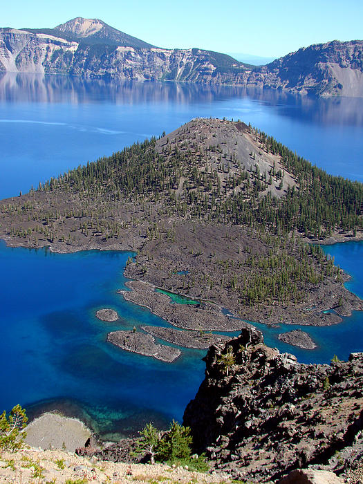 Crater Lake National Park Print by Qing Yang