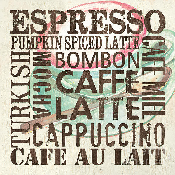 Cream Coffee Of The Day 2 Print by Debbie DeWitt
