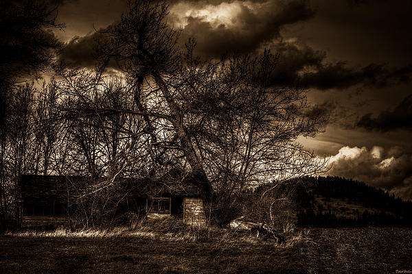 Creepy House One Print by Derek Haller