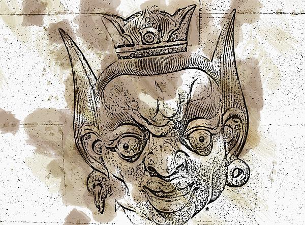 Creepy Mask Print by Alice Gipson