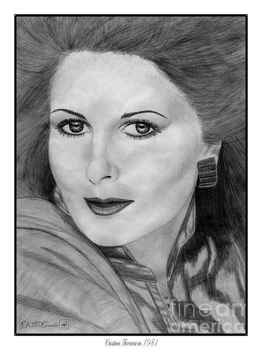 Cristina Ferrare In 1981 Print by J McCombie